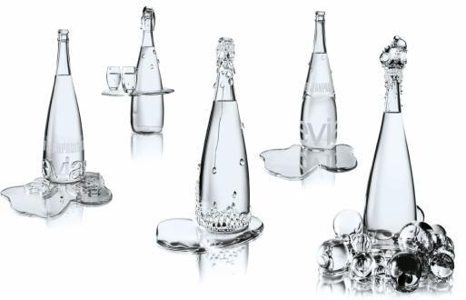 Evian haute couture min rale selon jean paul gaultier - Collection bouteille evian ...