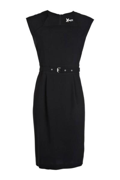 ec60466eef9 Robe droite noire chic robe femme coton