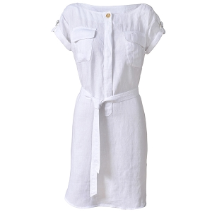 Robe Lin Blanc Femme