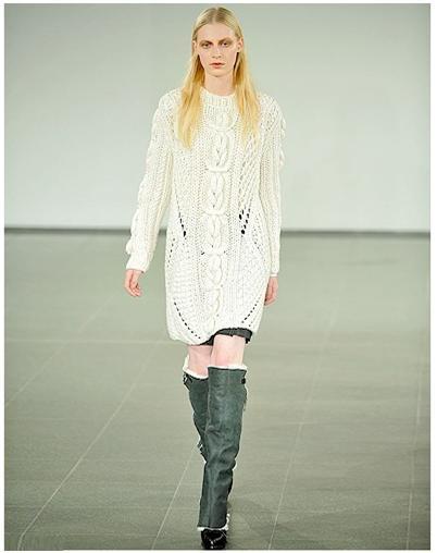 Robe-pull-laine-blanche-Pringle-of-Scotland-hiver-2011