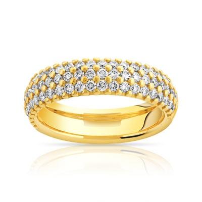 alliance-de-mariage-en-or-jaune-avec-3-rangee-de-diamants-baguettes-de ...