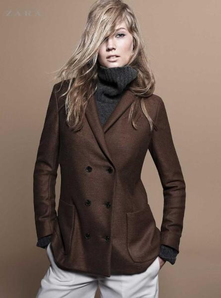 manteau noir femme zara 2012