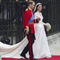 Le prince William et Kate Middleton lors de leur mariage princier au Buckingham palace