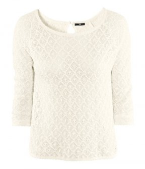 Pull en maille blanche