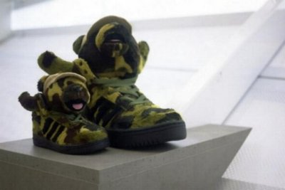 Sneakers Teddy Bear Camo Jeremy Scott pour Adidas Originals