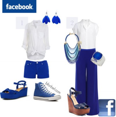 Collection aux couleurs de Facebook